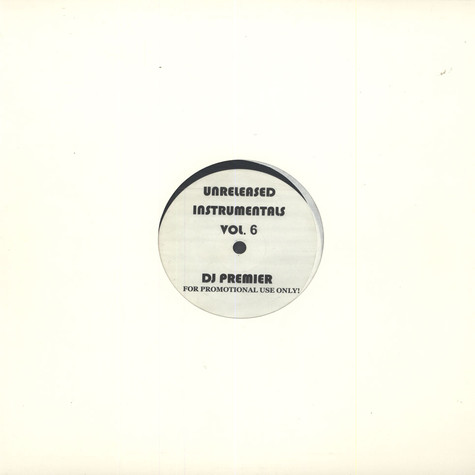 DJ Premier - Unreleased Instrumentals Volume 6