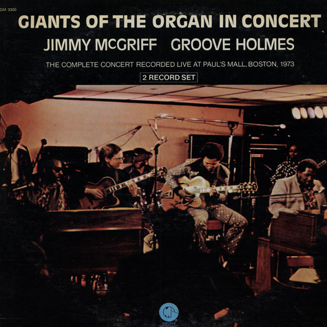 """Jimmy McGriff / Richard """"Groove"""" Holmes - Giants Of The Organ In Concert"""