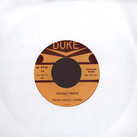 Fention & The Castle Rockers / David Dean's Combo - Double Freeze / The Freeze