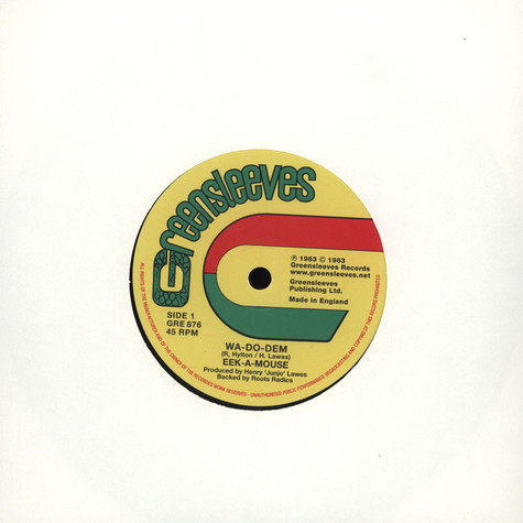 Eek-A-Mouse  / Yellowman - Wa Do Dem / Mr. Chin