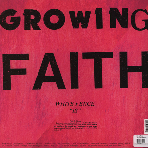 White Fence - Is Growing Faith