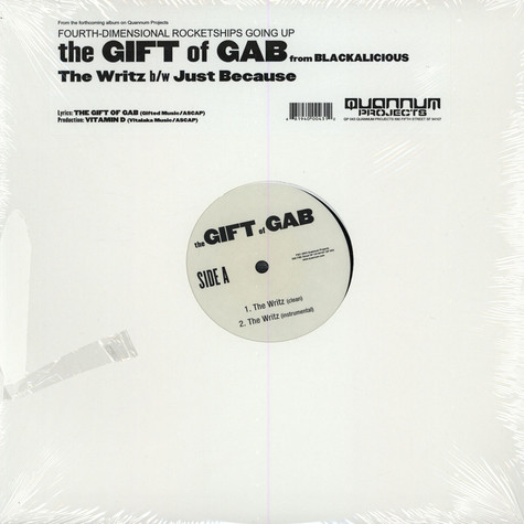 Gift Of Gab from Blackalicious - The writz