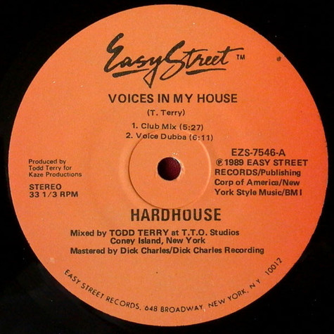 Hardhouse - Voices In My House