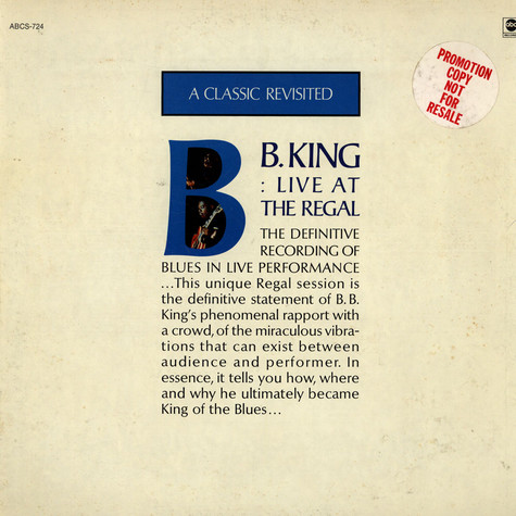 B.B. King - B.B. King Live At The Regal