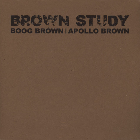 Boog Brown & Apollo Brown - Brown Study