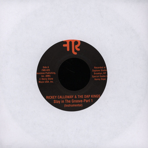 Rickey Calloway & Dap-Kings - Stay In The Groove Instrumental Parts 1 & 2