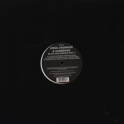 Virgil Enzinger & Submerge - Black Sun Remixes Pt 2