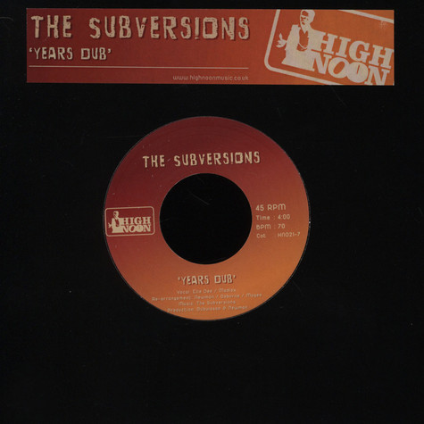 Subversions, The - Years Dub