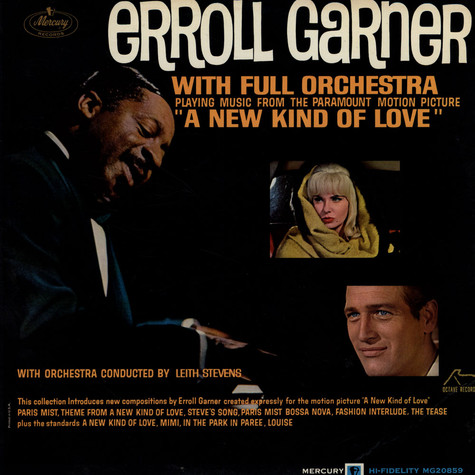 "Erroll Garner With Full Orchestra - Playing Music From The Paramount Motion Picture ""A New Kind Af Love"""