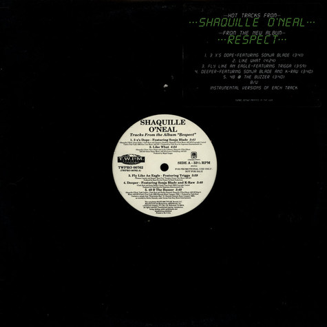 Shaquille O'Neal - Respect (Promo-EP)