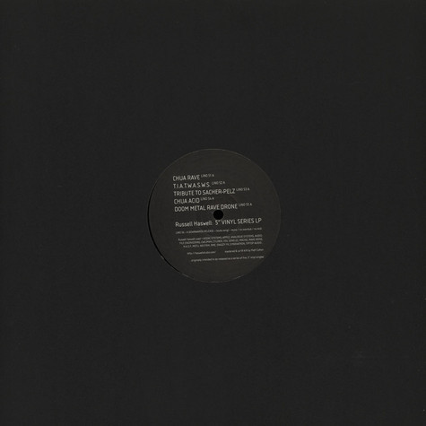 "Russell Haswell - 5"" Vinyl Series LP"