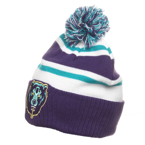 Mishka - Death Adder Striped Pom Beanie