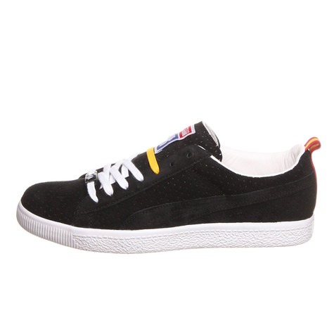 Puma x Undefeated - Clyde Gametime (Black   White   Team Yellow)  b080133f9