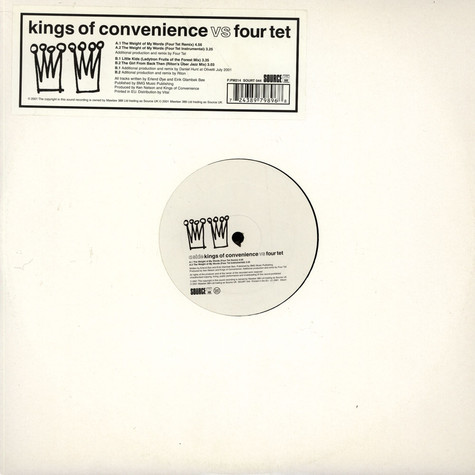 Kings Of Convenience vs Four Tet - The Weight Of My Words