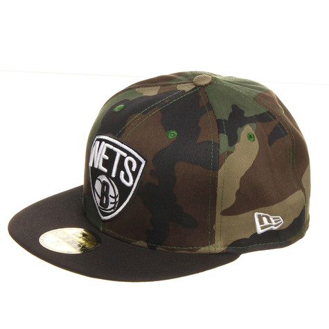 New Era - Brooklyn Nets NBA Camo Team Visor 59Fifty Cap