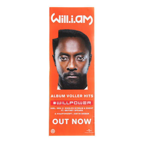 Will I Am - #Willpower Poster