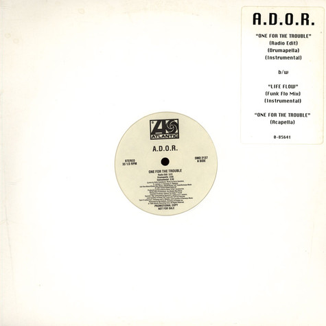A.D.O.R. - One For The Trouble