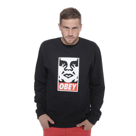 Obey - Obey Icon Face Crewneck Sweater