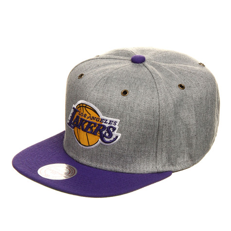 Mitchell & Ness - Los Angeles Lakers NBA Vintage Heather Grey Wool Strapback Cap