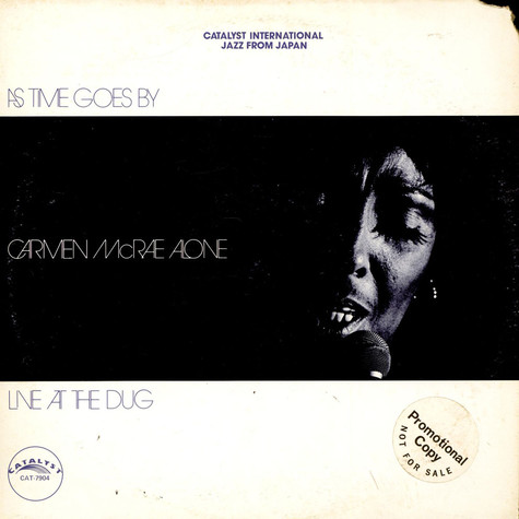 Carmen McRae - As Time Goes By Carmen McRae Alone Live At The Dug