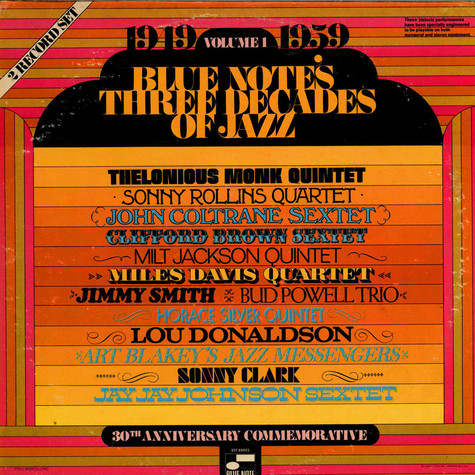 V.A. - Blue Note's Three Decades Of Jazz - Volume 1 - 1949 - 1959