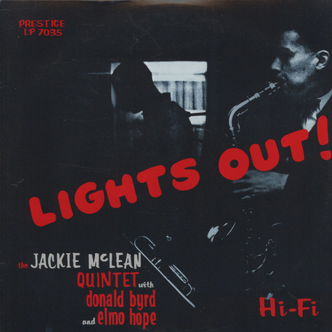 Jackie McLean Quintet With Donald Byrd And Elmo Hope - Lights Out!