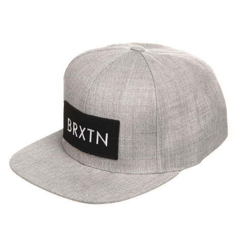 197ff9f2c31 Brixton - Rift Snapback Cap (Light Heather Grey)