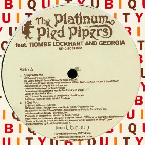 Platinum Pied Pipers Featuring Tiombe Lockhart & Georgia Anne Muldrow - Stay With Me