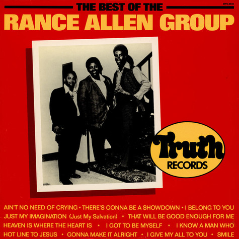 Rance Allen Group, The - The Best Of