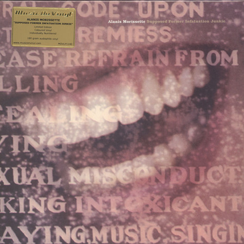 Alanis Morissette - Supposed Former Infatuation Junkie Clear Silver Vinyl Edition