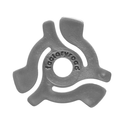 Factory Road - 45 RPM Adapters Silver Color (Pack of 18)