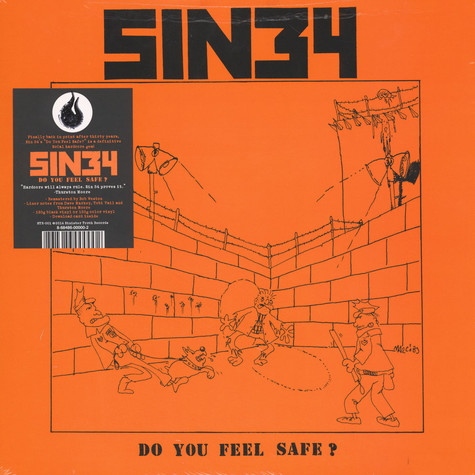Sin 34 - Do You Feel Safe? Black Vinyl Edition