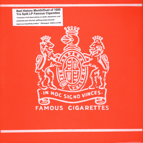 Bad History Month / Dust From 1000 Years - Famous Cigarettes Split