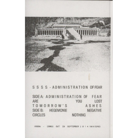 SSSS - Administration Of Fear