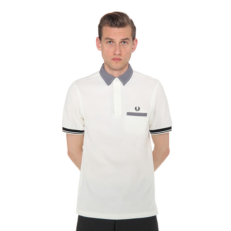 Fred Perry - Gingham Trim Tipped Pique Polo Shirt