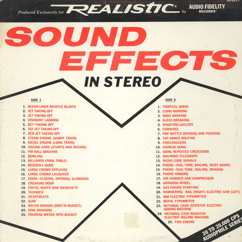 Audiofidelity Enterprises - Sound Effects In Stereo