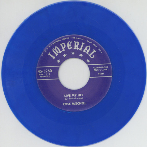 Rose Mitchell - Baby Please Don't Go / Live My Life Blue Vinyl Edition