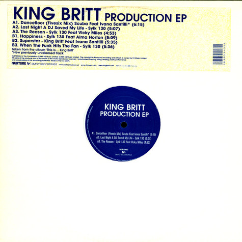 King Britt - Production EP