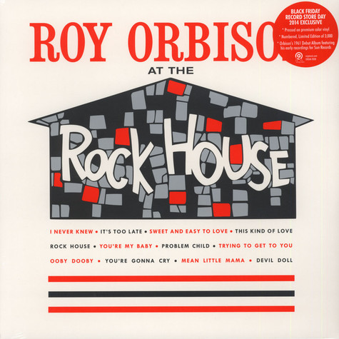 Roy Orbison - At The Rock House 140g Colored Vinyl Edition