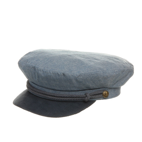 b72aac1f870 Brixton - Fiddler Captain s Hat (Washed Denim   Navy)