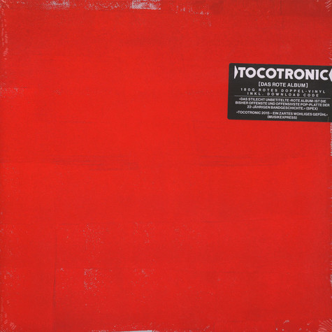 Tocotronic - Tocotronic: Das Rote Album Red Vinyl Edition
