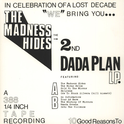 Dada Plan - The Madness Hides