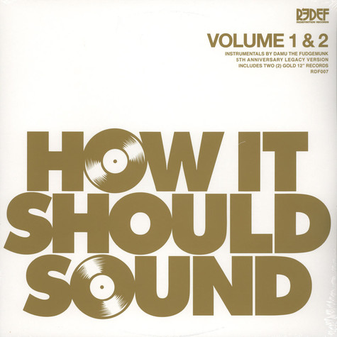 Damu The Fudgemunk - How It Should Sound Volume 1 & 2 Gold Vinyl Edition