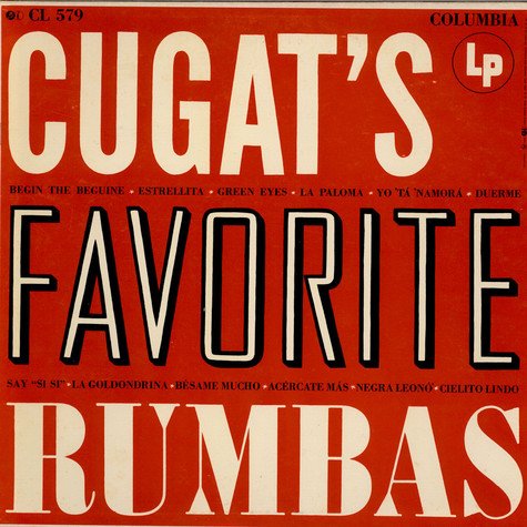 Xavier Cugat And His Orchestra - Cugat's Favorite Rhumbas