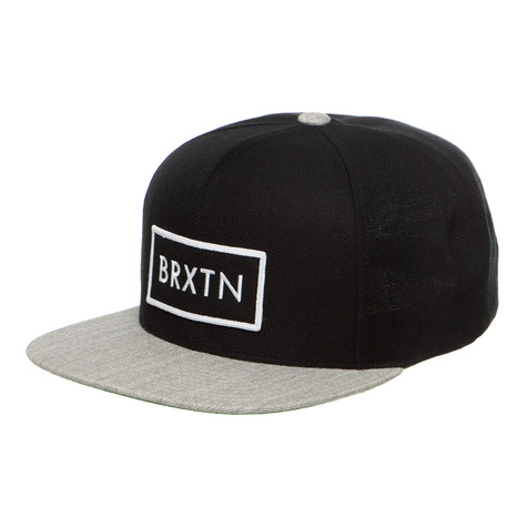 ed8b95b8d5c Brixton - Rift Snapback Cap (Black   Light Heather Grey)
