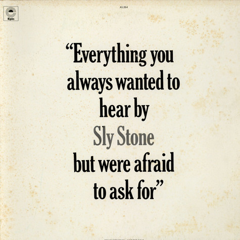 "Sly Stone - ""Everything You Always Wanted To Hear By Sly Stone But Were Afraid To Ask For"""