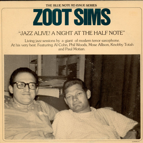 Zoot Sims - Jazz Alive! A Night At The Half Note