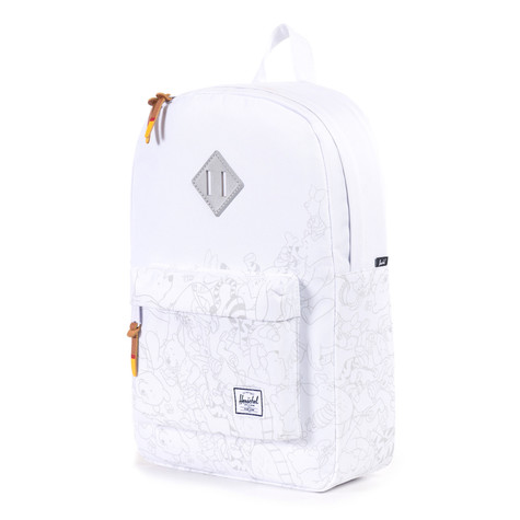 Herschel x Disney - Heritage Mid-Volume Backpack (White   Winnie)