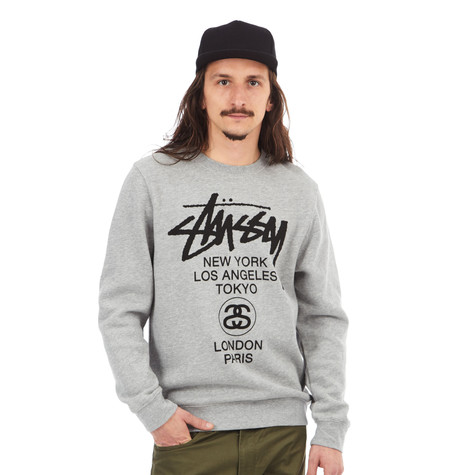 Stüssy - World Tour Crewneck Sweater