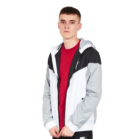 136f7bb55bdd Nike - Windrunner Jacket (White   Black   Wolf Grey   White)